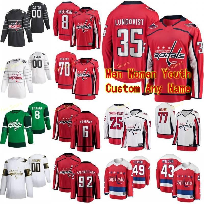Washington Capitals Hockey Jerseys 92 Hendrix Lapierre 35 Henrik Lundqvist Justin Schultz Cameron Schilling Trevor Riemsdyk Individuelle genähtes