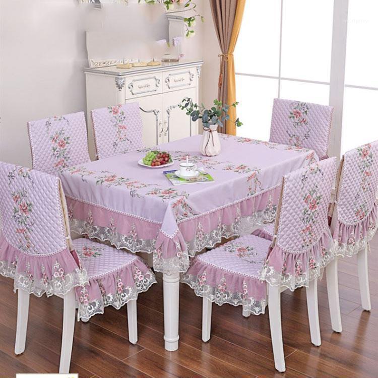 Настольная ткань три свежих цветов в пастырский чехол для ресторана эль банкетный плед скатерть стул крышки rrectangle скатерть1