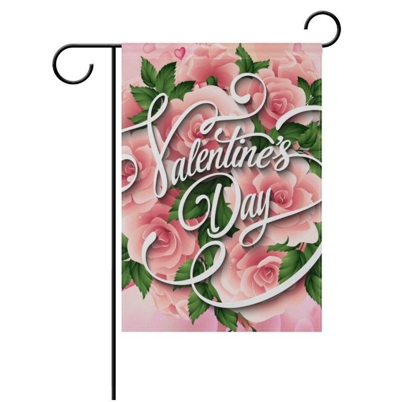 Bandera de jardín en blanco de fibra de poliéster de sublimación para el día de San Valentín Día de Pascua Transferencia en caliente Impresión de la impresión de la bandera de los consumibles 30 * 45 cm