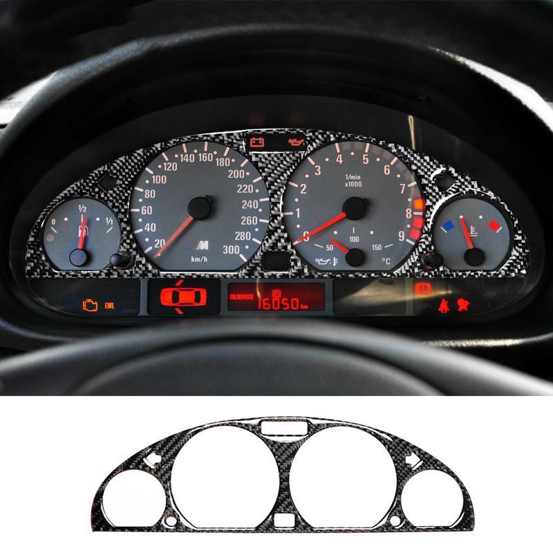 Intérieur en fibre de carbone Tableau de bord de voiture écran Tableau de bord de protection Garniture autocollant Styling voiture pour BMW E46 M3 1998-2005