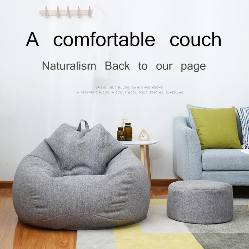 Sedia per sacchetto di fagioli con ripieno grande sedile a bosco divano letto ripieno gigante beanbag divano pouf ottomano relax lounge mobili per pratico