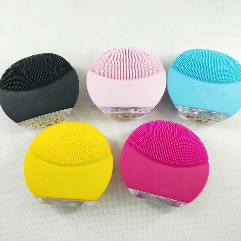 2020 클렌저 미니 전기 초음파 미용 악기 실리콘 방수 클렌저 모공 깨끗한 2 색 배달 클렌징 도구