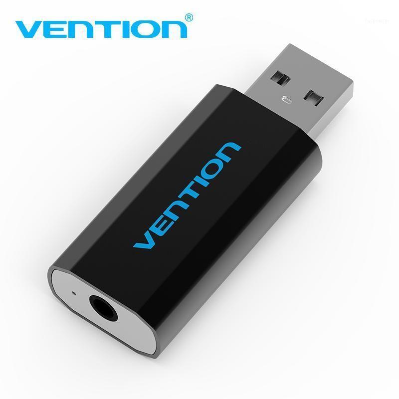 Venção Placa de som externa USB para fone de ouvido de 3,5 mm cartão de áudio adaptador USB USB de fone de ouvido para computador laptop