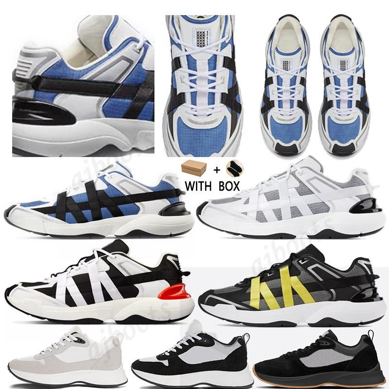 2021 مع مربع أفضل b25 b24 منحرف عداء حذاء الرجال منصة الأحذية المصممين أسود أبيض جلد الغزال المدربين شبكة الدانتيل متابعة الأحذية عارضة