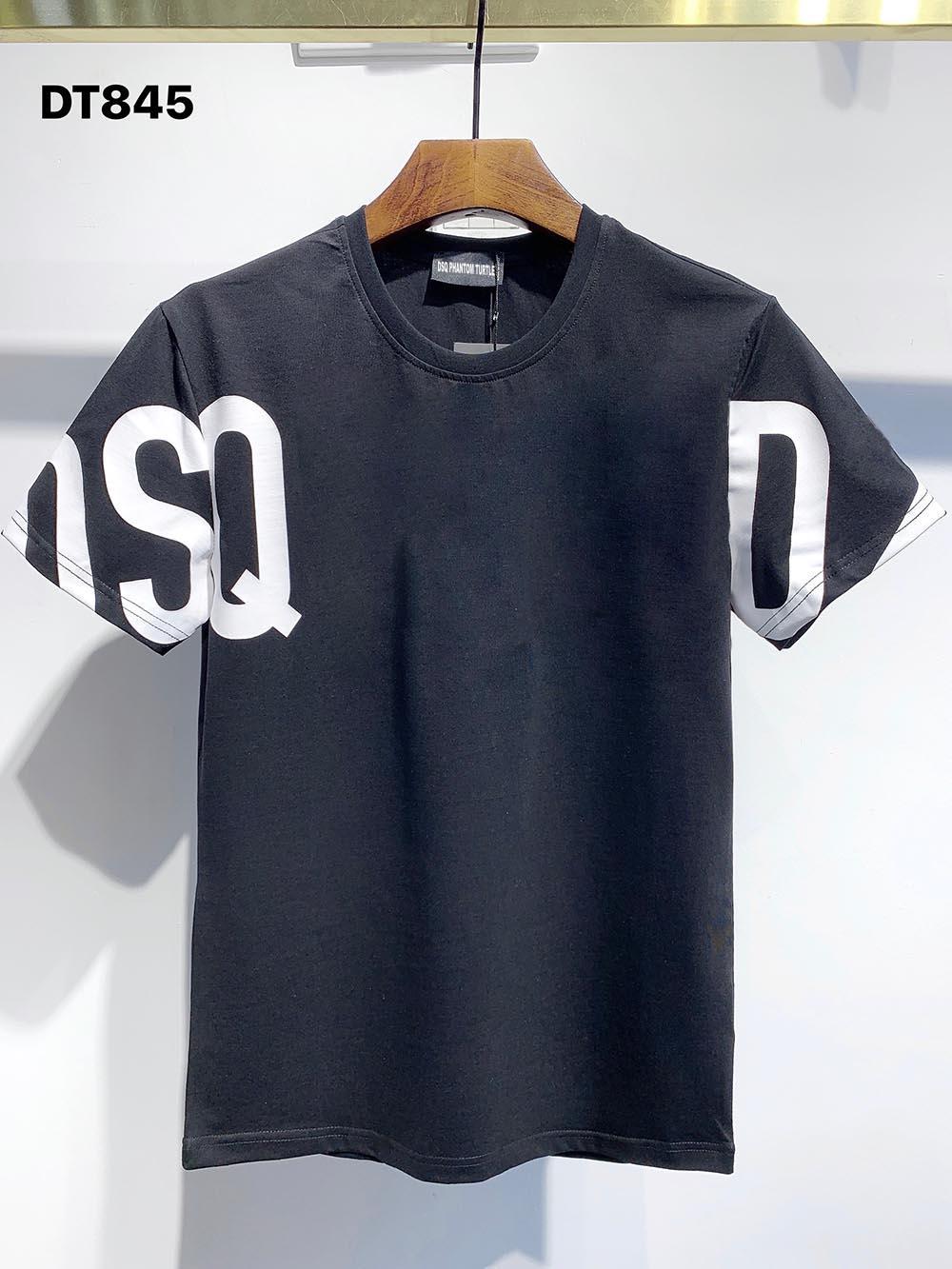 DSQ PHANTOM TURTLE 2021SS New Mens Designer T shirt Paris fashion Tshirts Summer DSQ Pattern T-shirt Male Top Quality 100% Cotton Top 1179