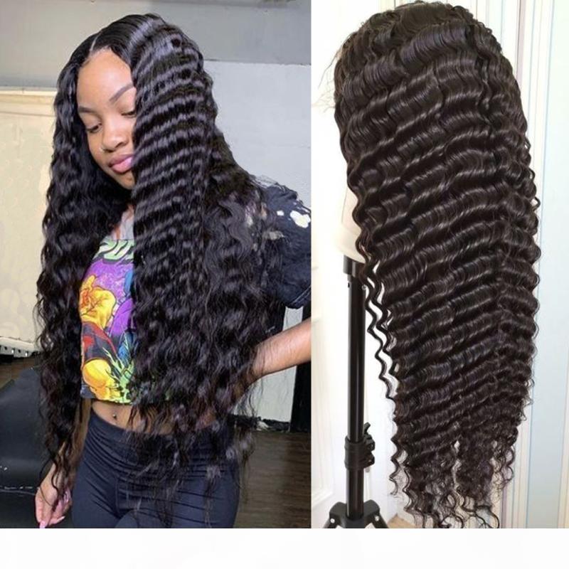 Deep Wave 5x5 Spitze Verschluss Perücken vorgeptet mit Babyhaar Brasilianischen Remy Lace Front Front Human Hair Perücken 4x4 Schließung für Frauen