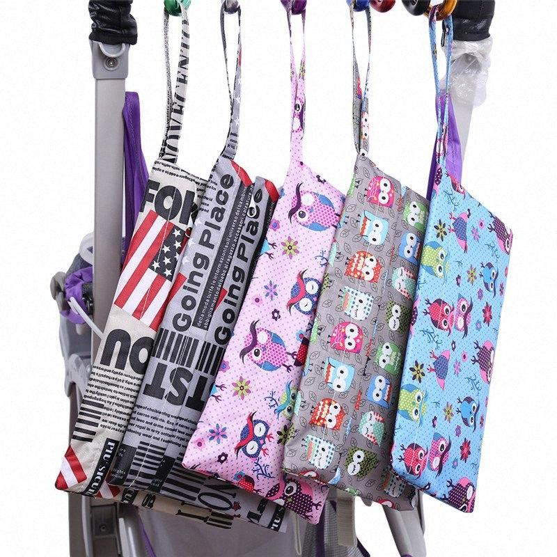 27*17cm Cartoon Single Wet Bag Pocket Baby Cloth Diaper Bag Waterproof Reusable Bags Traval Portable Storage Bags yqYK#