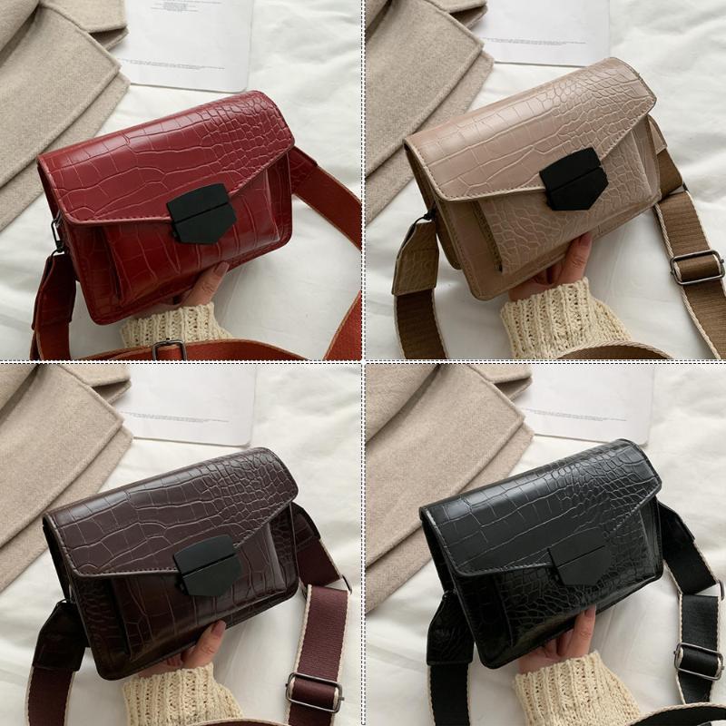 Muster und Frauen PU Bags Krokodil Leder Crossbody Weibliche Schulter Weibliche Geldbörsen Messenger Handtaschen Tasche für Lakgv