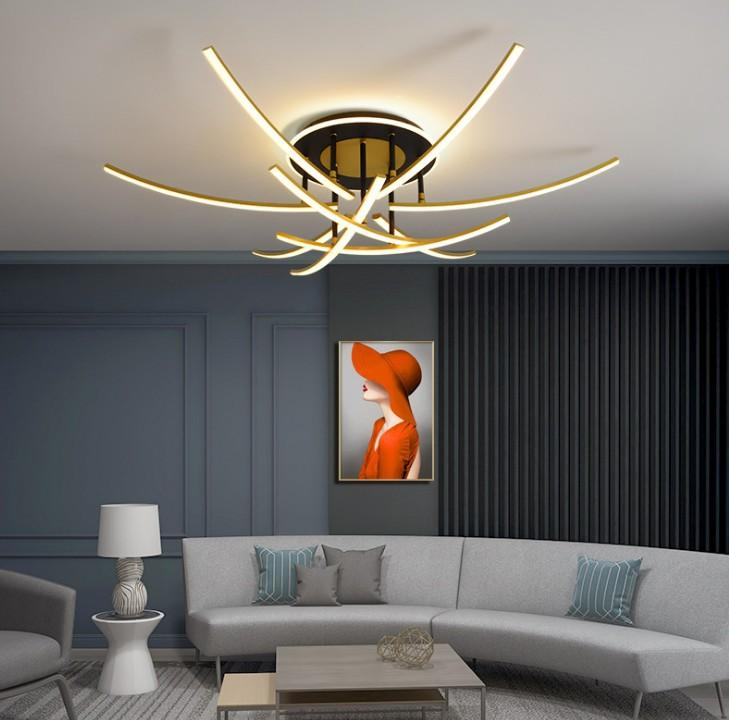 Светодиодный потолочный светильник 110 В 220 В Современная люстра Потолочная лампа для гостиной Спальня Столовая Лампы Блестящие светильники Сопоставительные светильники