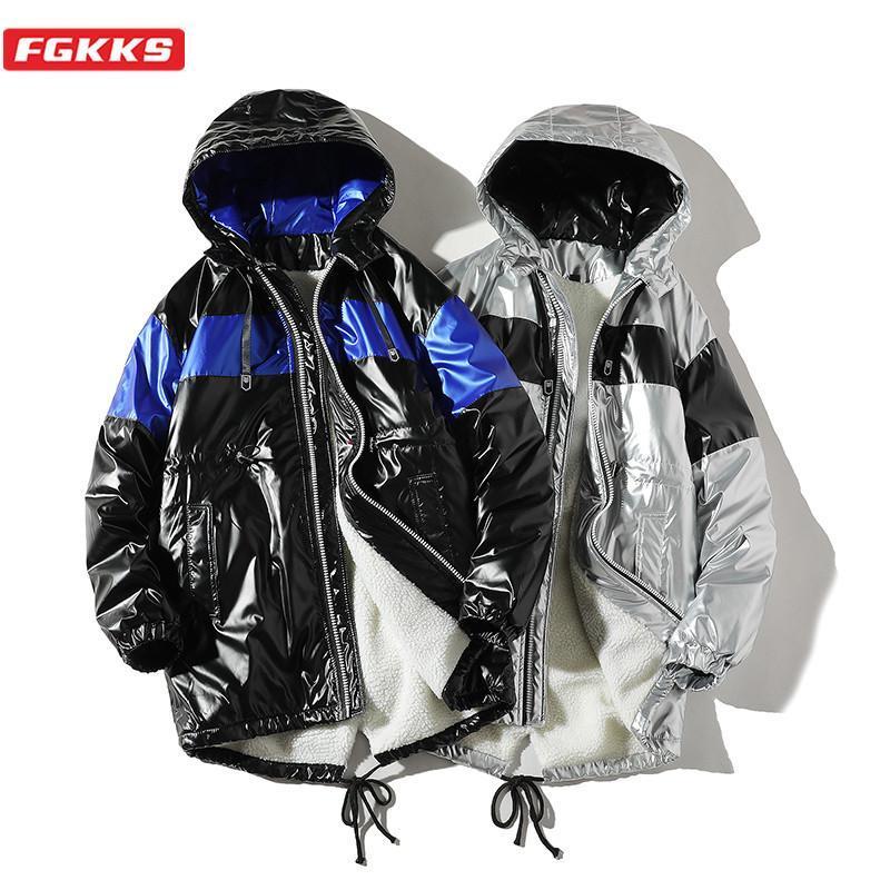 Fgkks parkas jaqueta de inverno homens 2020 novo quente eterwear casual outerwear casual acolchoado casaco de algodão grande bolsos de alta qualidade parkas homens