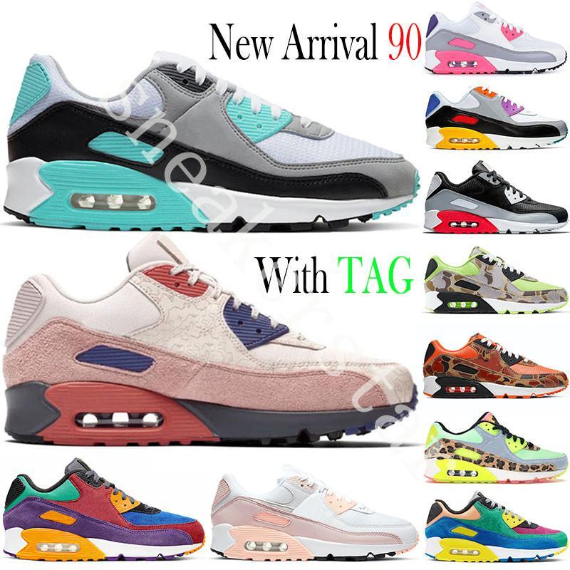 Nuevo 90 mujeres de los hombres de los zapatos corrientes Triple Blanco Negro Cool Gray apenas Rose años 90 para hombre Formadores Cojín de superficie tamaño de las zapatillas de deporte 36-45 Deportes