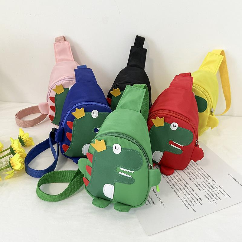 Lovely Cartoon Kids Backpack Cute Dinosaur Pattern Nylon Mini Shoulder Package Fashion Portable Baby Boy Girl School Bag 5 88wj L2
