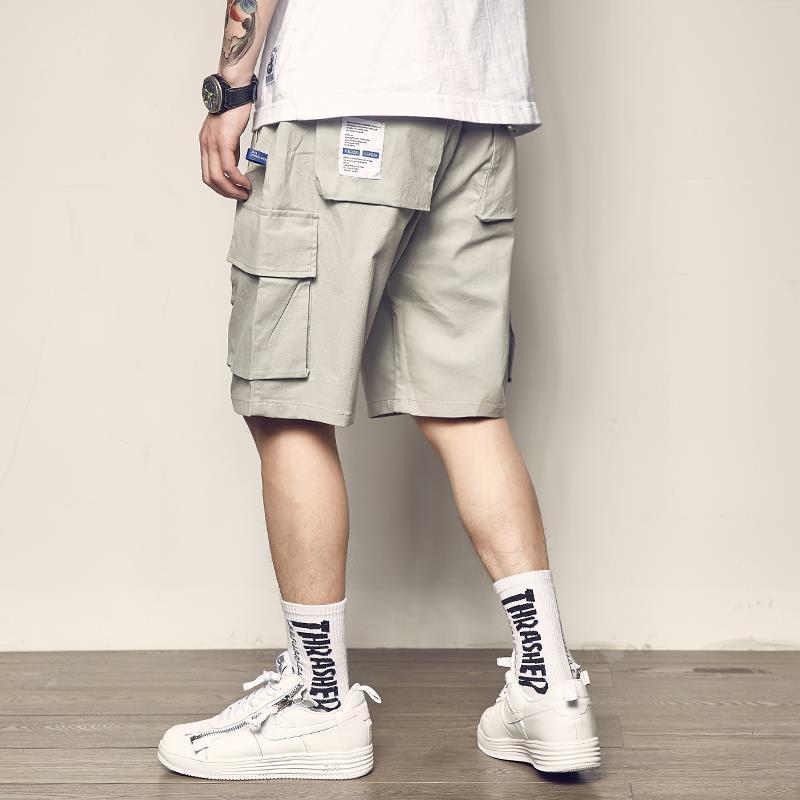 Homens corredores shorts calça homens verão casual mulit-bolso respirável grande streetwear shorts