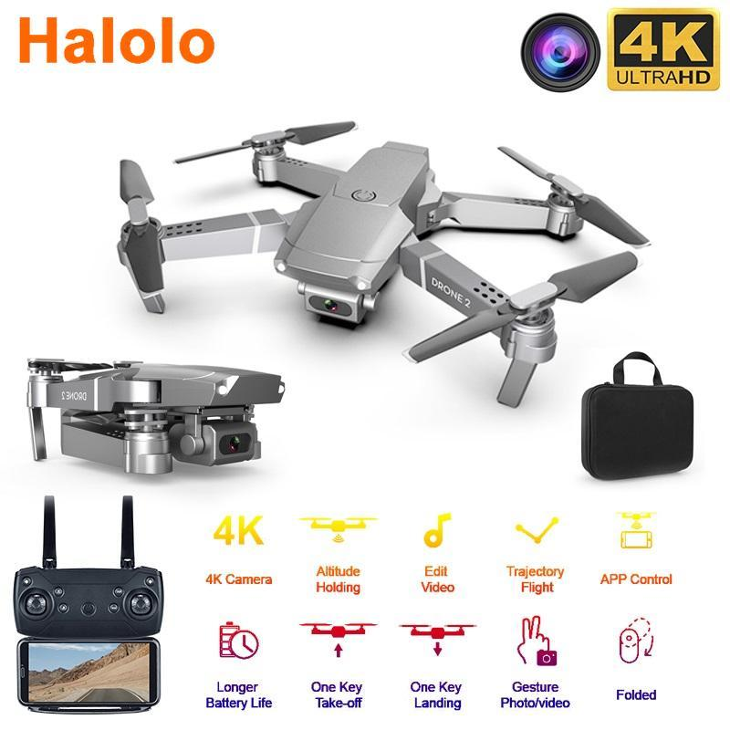Halolo E68 WIFI FPV Mini Drone With Wide Angle HD 4K 1080P Camera Hight Hold Mode RC Foldable Quadcopter Dron Gift drone camera
