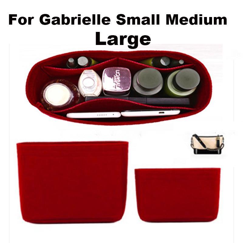 Pour Gabrielle Hobo Sentier Insert Insert Sac Organisateur Maquillage Sac à main Shaper Organisateur Voyage Porte-monnaie intérieure Sacs cosmétiques portables LJ201008