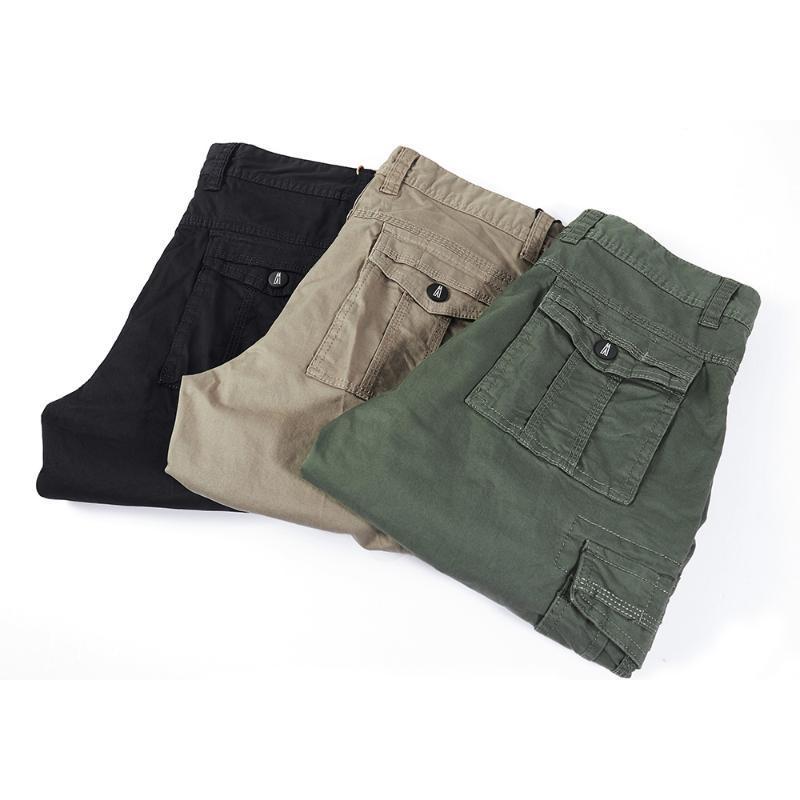 Summer Short occasionnel à manches courtes d'été shorts simples d'outils droits pour hommes YJJ-86