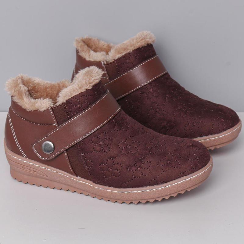 New 2020 Winter Short warme Stiefel Schnee Frauen-Pelz-Größe Futter warme wasserdichte PU-Leder-beiläufige Frauen Ankle Boots 35 ~ 43