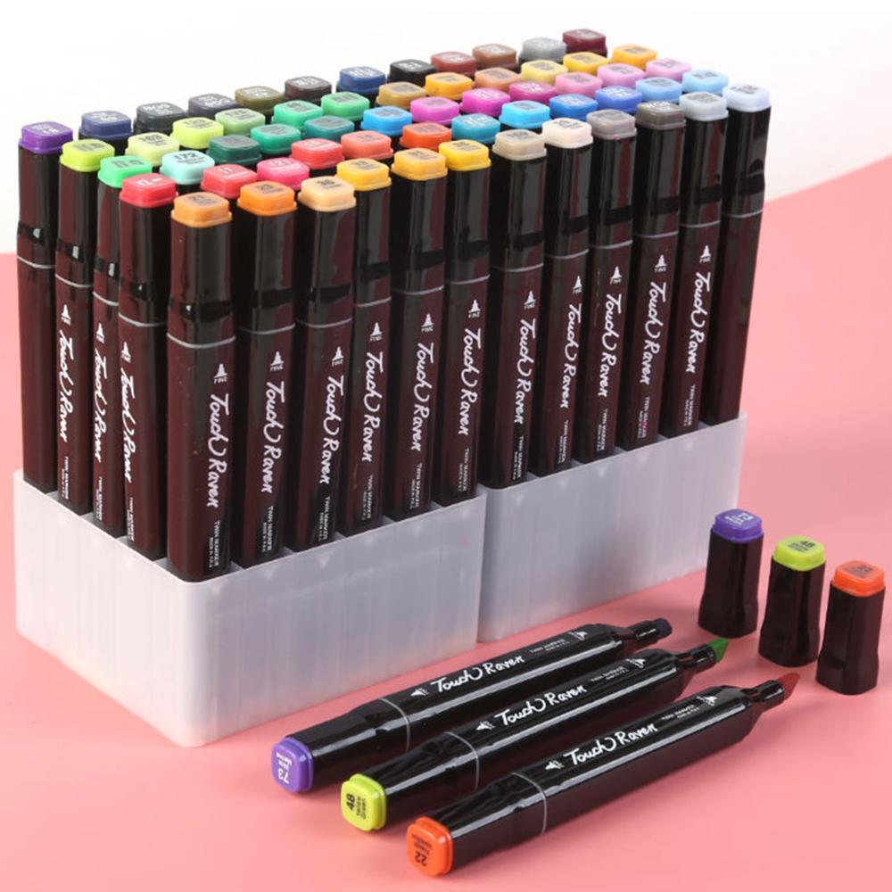 TouchFive 12/24/44/48 / 80lot marcadores pintados à mão mangá mangá desenho caneta álcool baseado esboço oleoso gêmeo pincel caneta bookmark 20118