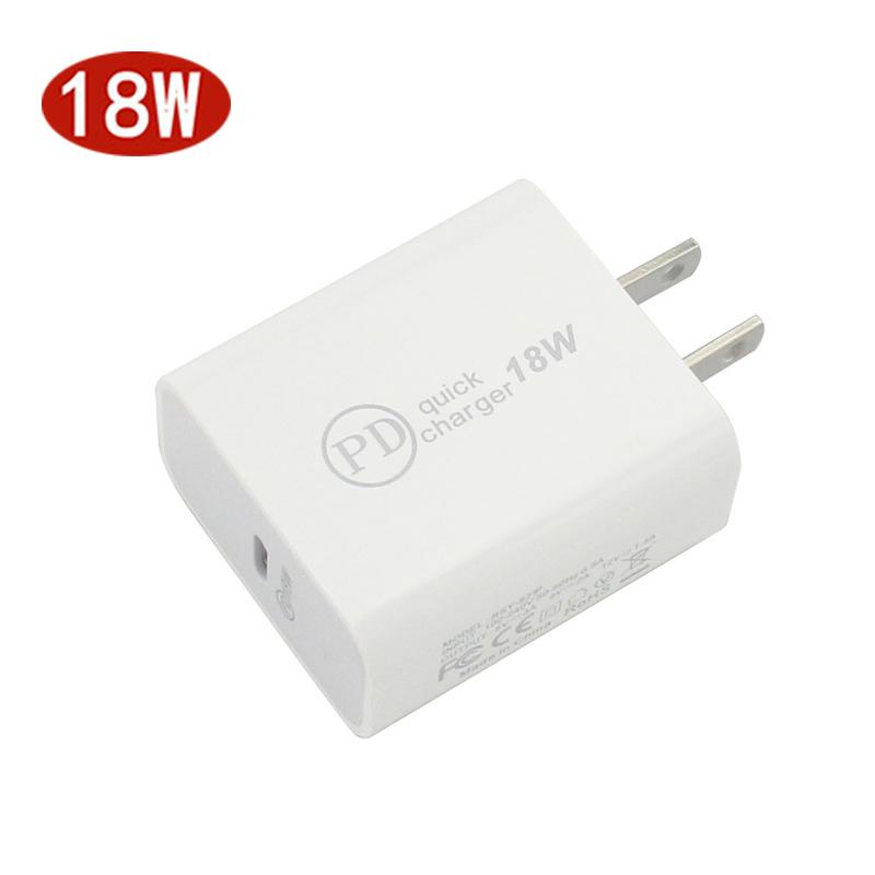 Real 18W PD Adapter Wall Charger for iPhone 11 pro max Fast charging USB C TYPE C to iphone
