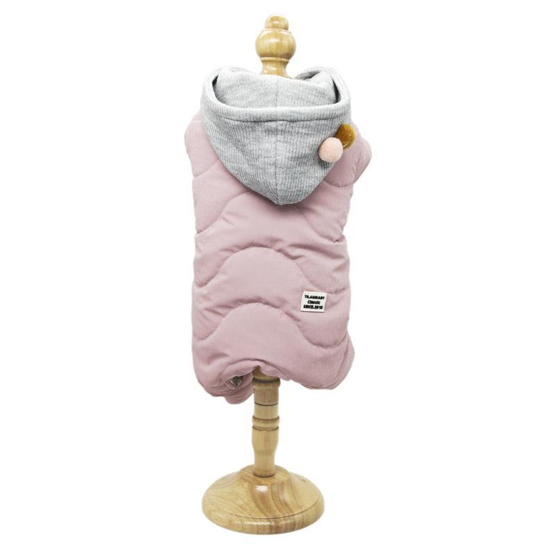 Quatre pieds pour les chiens Jumpsuits 100% coton Rose Couleurs Jaune super chaude et des vêtements confortables pour chiens 2020 Automne et Hiver