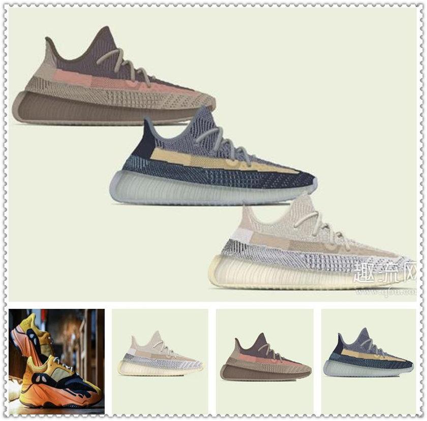 Chaussures de sport pour femmes 2021 Kanye West Sun Yecoraite Eliada Ash-Stone Light Refleftive Casual Casual Sneakers Basques d'eau Taille de la chaussure 36-48