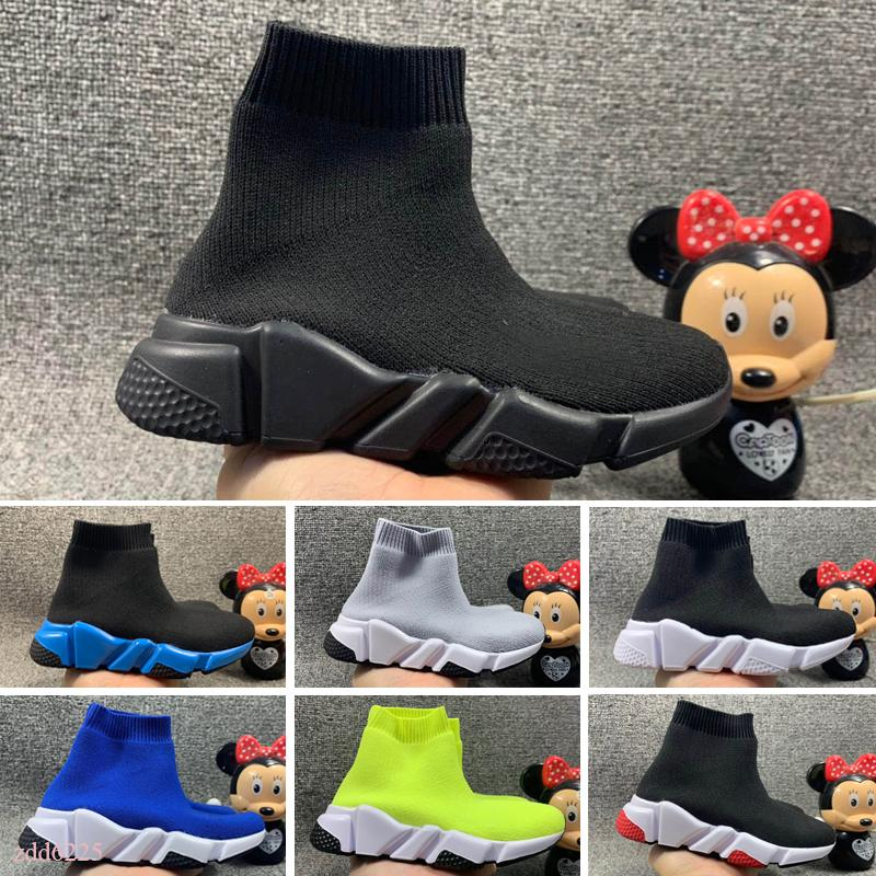 2020 Wholesale Sell Childrens Kid Sock shoes Vetements crew Sock Runner Trainers Shoes Kids Shoes Hight Top Sneakers Boot Eur 24-35