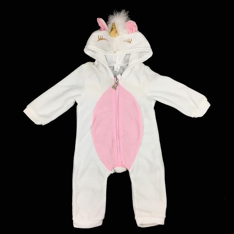 طفل الوليد ملابس الطفل بنات الكرتون القرن مقنع رومبير الرضع سستة بذلة الملابس 10 قطعة / المجموعة M3289