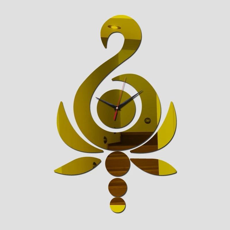 Relojes de pared de la aguja de pared del cuarzo nuevo espejo del diseño geométrico de acrílico relojes de pared de la sala pegatinas estilo de Europa