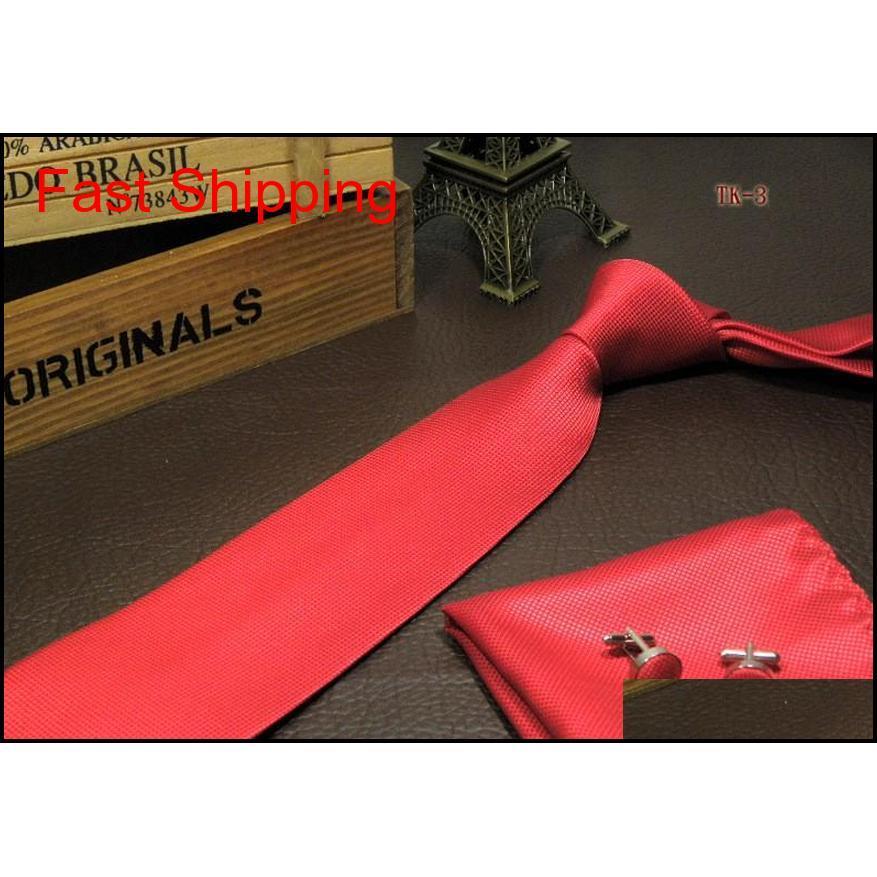 Мужская галстука для шеи набор карманные квадратные рукава кнопки Hanky шеи и носовой платок набор N Qylsha Queen66