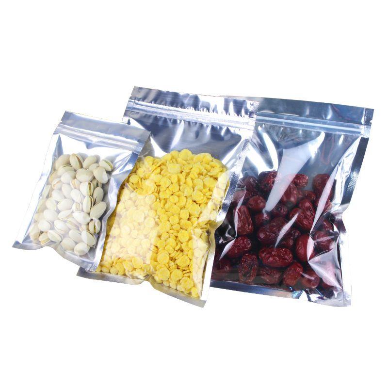 Folha de alumínio Válvula reaisable Zipper Plástico Embalagem de varejo Mylar Saco Zip Bloqueio de alimentos Bolsas de armazenamento de alimentos Ziplock Mylar Folha Saco