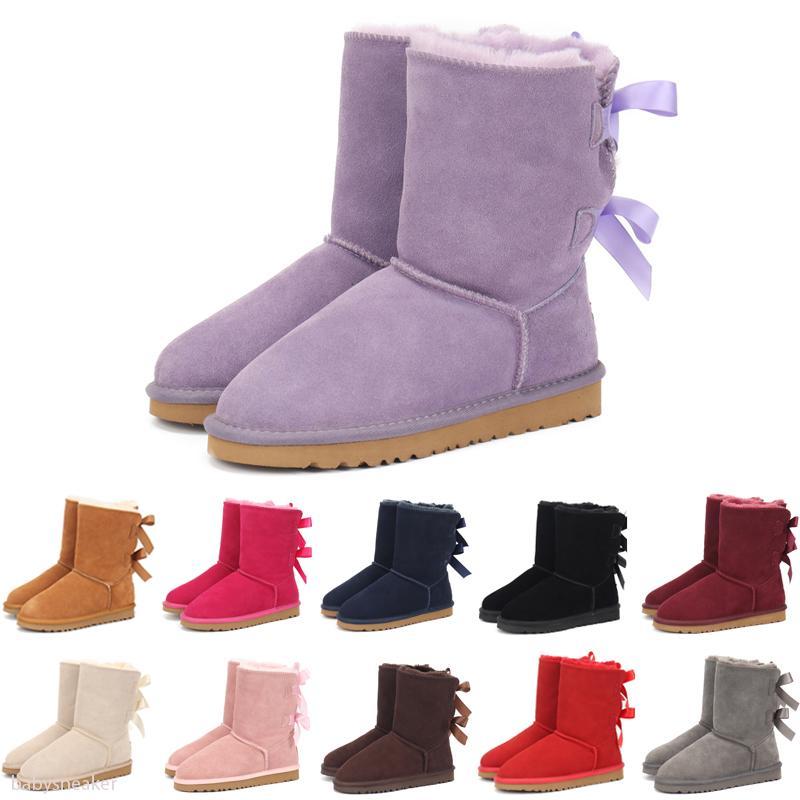 UGG Boots Yaylar Çocuk Ayakkabı Kız ayakkabı ile yürümeye başlayan çocuklar Boots için yüksek kaliteli Sıcak satmak Çocuklar kar botları Gerçek Deri Kar Boots