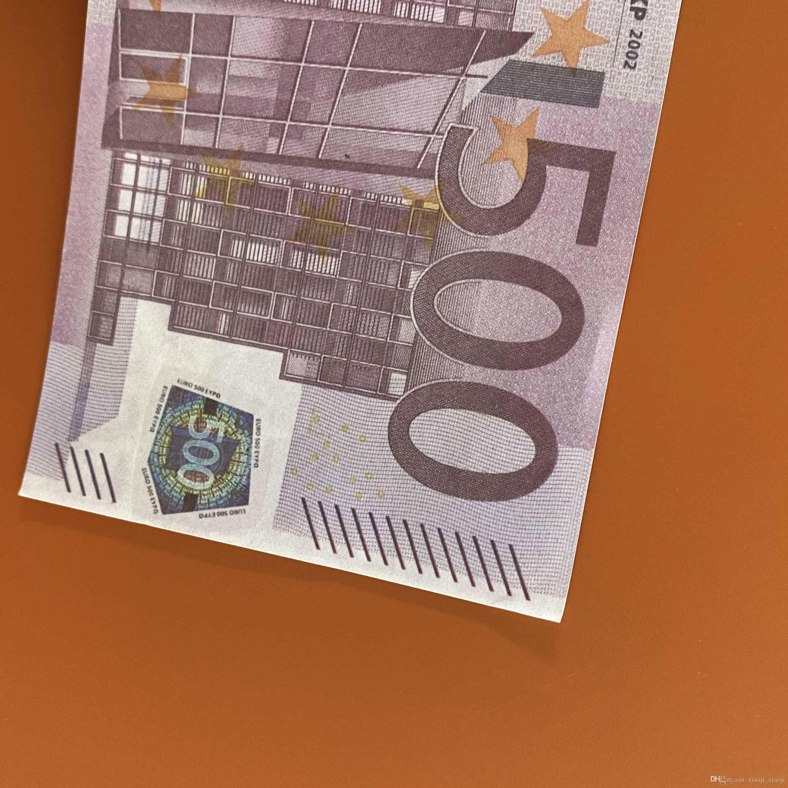 Most Paper Toy 023 Euros Copy Family Banknote Play Prop Or 100pcs/pack 500 Realistic Money Kids For Collection Game Us Gcumn