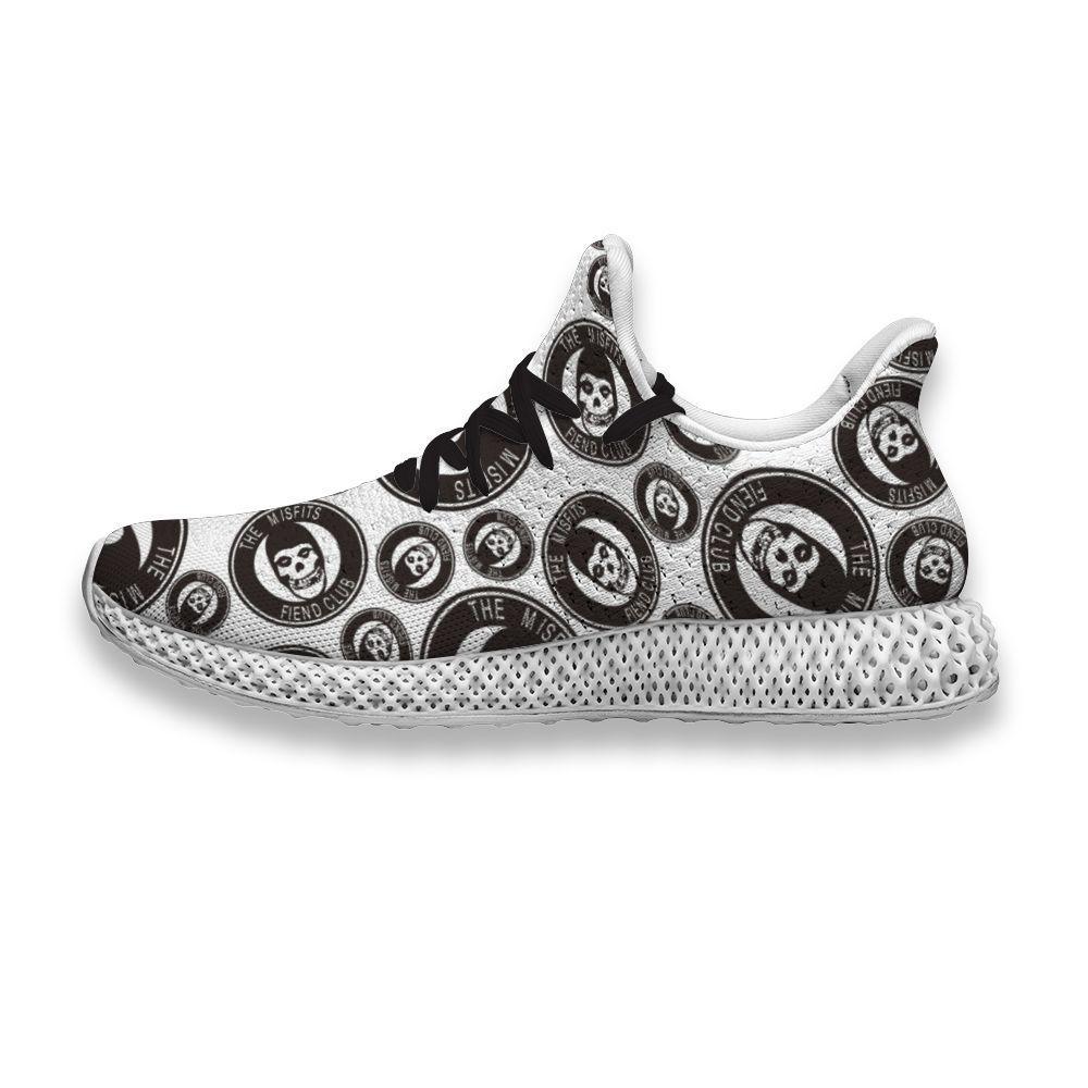 4D zapatos de Música logotipo de la banda Misfits Demonio del club hombres de la impresión divertida Rtero red de aire de ocio personalizado para caminar deportivos zapatilla de deporte