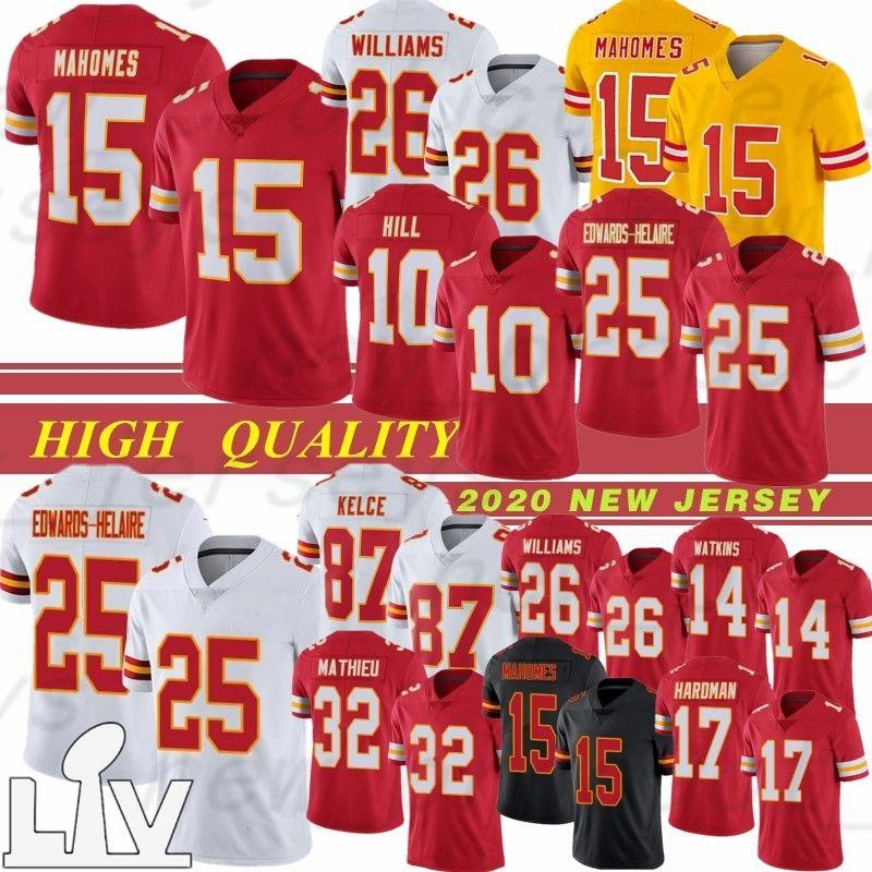15 Patrick Mahomes 2021 Nova Jersey Football 26 Bell 25 Edwards-Heraire Travis 87 Kelce 32 Mathieu 29 Berry 17 Hardman 10 Hill 14 Watkins