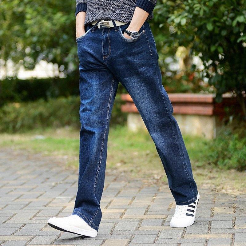 Herren Jeans Hohe Stretch Taper Jeans-Denim-Jean-Hose-Hosen plus Größe 32 33 34 35 36 38 40 42 6xB6 #