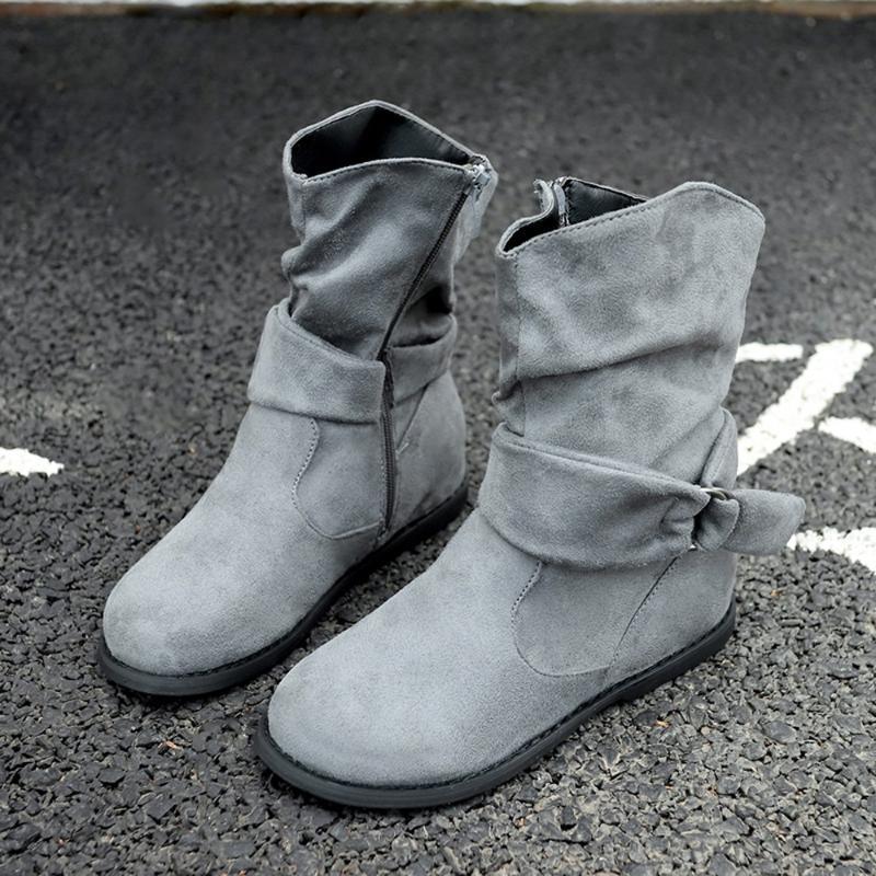 Botas estilo vintage mujeres hembra suave conjunto de pies zapatos planos mujer otoño invierno de moda corto de moda