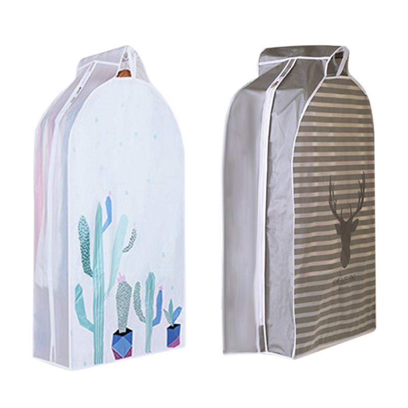 Armadio Storage Bag polvere del cappotto della copertura PEVA Zipper Durable traspirante Abbigliamento antipolvere