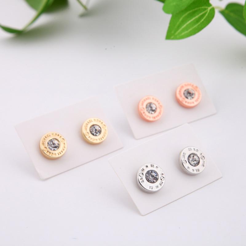 Оптовые женские ожерелья цепи ключицы Dianmonds Установите медные блестки кисточки золото / посеребренные сплавы круг Chokers ожерелья
