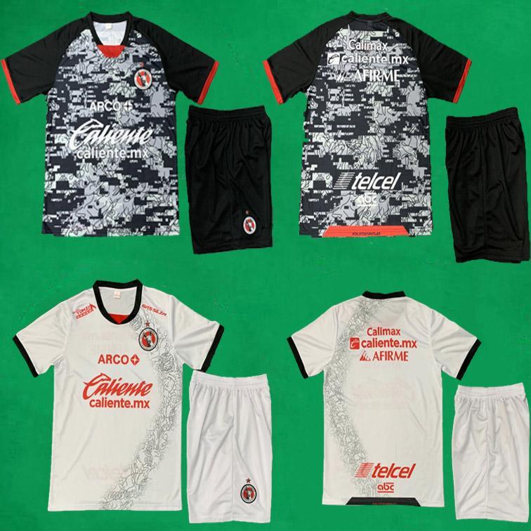 20 21 Xolos de Tijuana Soccer Jerseys Shorts Kits 2020/21 Club Tijuana Rivero Lucero Football Hemden und Hosen Herren Fußball-Kits