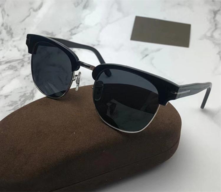 Euro-am Hotsale Retro-Vintage الحاجب سكوير مستقطبة نظارات شمسية UV400 51-20-140 للصفة نظارات شمسية