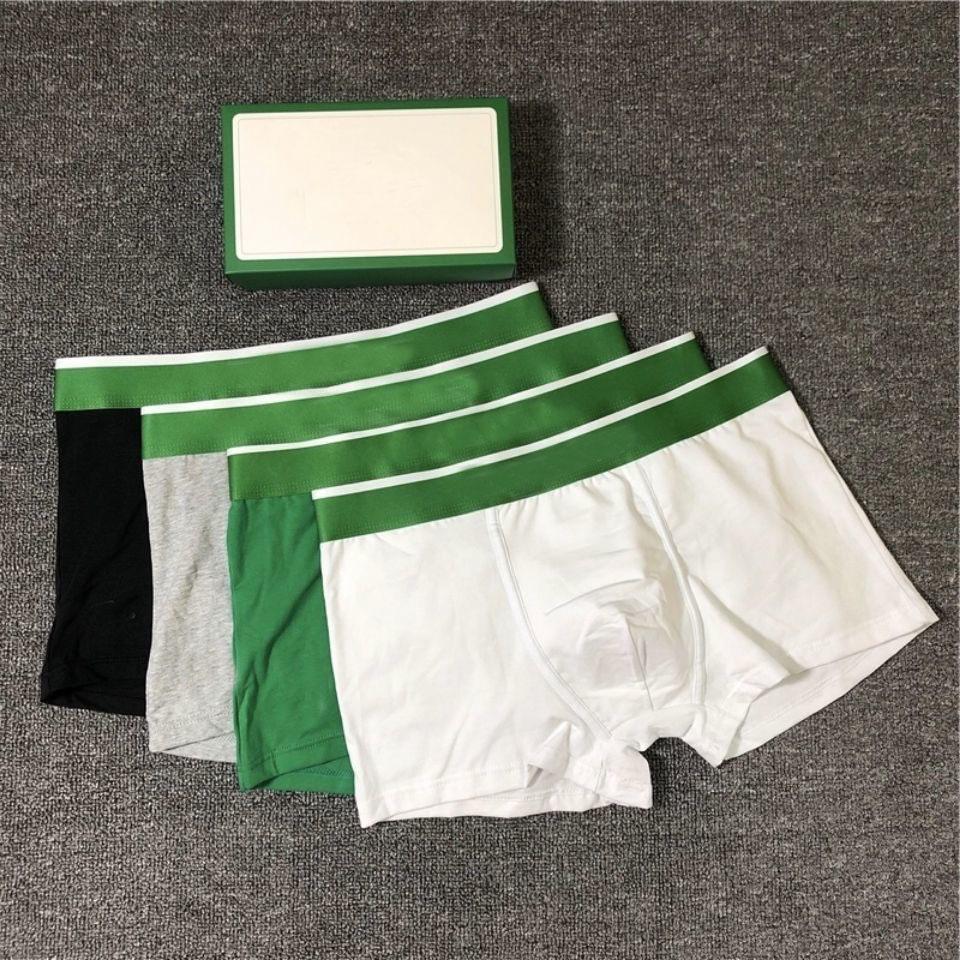 2020 hommes Designer Boxers Marques Sous-fonds Sexy Classic Mens Boxer Shorts Casual Sous-Vêtements Sous-vêtement Sous-vêtements de coton respirant 3pcs avec boîte