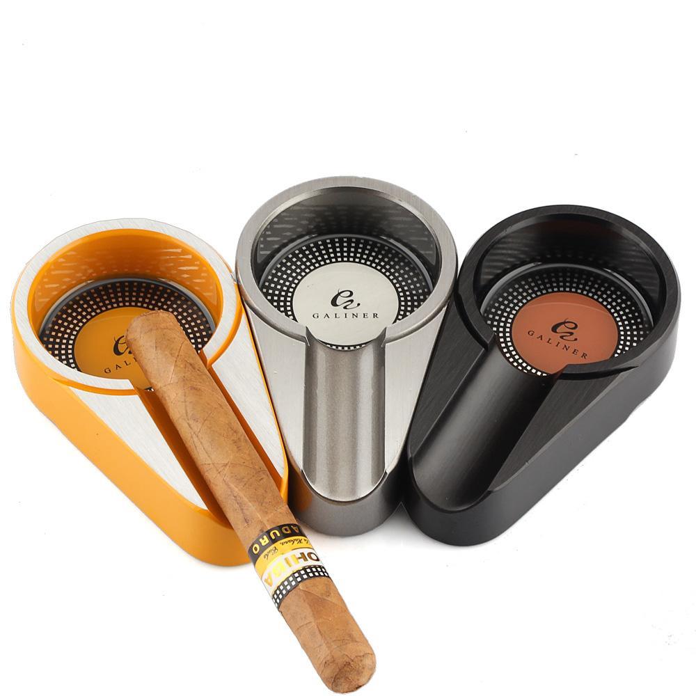 Metall-Gadgets Zigarre Aschenbecher übersichtliches Design Zigarette Aschenbecher pokcet Tabak Aschenbecher Aschenbecher für Cohiba