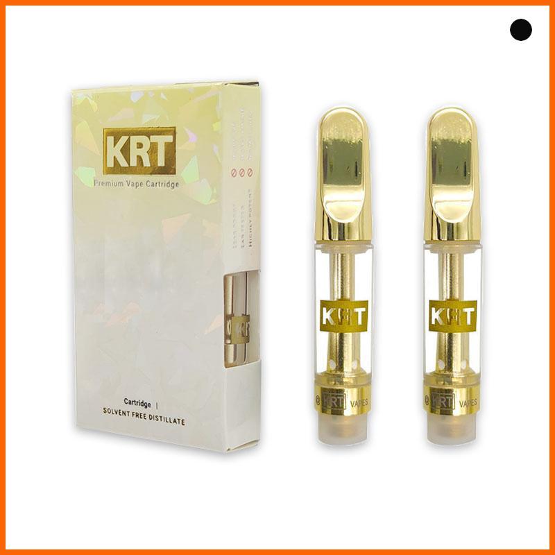KRRIVIRIAL KRT CHT CHEF CARSS VAPE CARTRIDGES BOXES Leere VAPE CARTRIDGE 0,8 / 1,0 Ml KRT Package Cart Ceramic Coil Zerstäuber