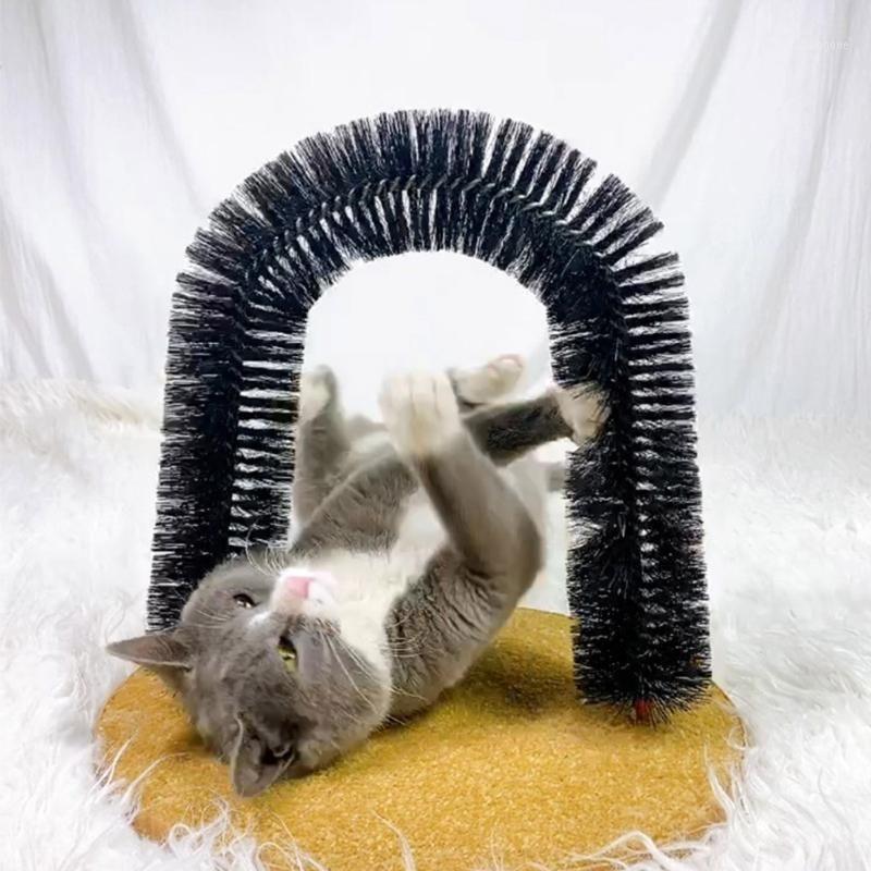 Cat Toys Funny Pet Massage Massaggio ARCH ARCH AUTOMICATO Pennello Anti-skid dispositivo di grattaggio Lavaggio dei capelli Alleviare lo strumento prurito per Cats1