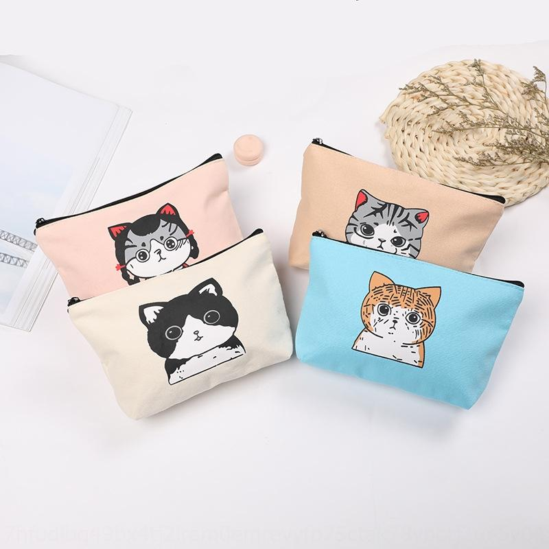 KqyOT 2020 новое изменение мультфильма женщин моды универсальный сумки кошелек кошелек кошелек тенденция мешок руки шаржа кота