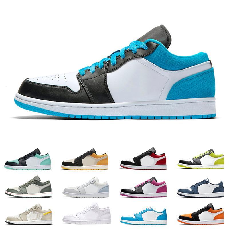 Дешевые мужские 1 1s низкий скейтборд обувь лазерный синий тропический коричневый полуночный военно-морской сини белые женщины кроссовки тренеров спортивные спортивные туфли