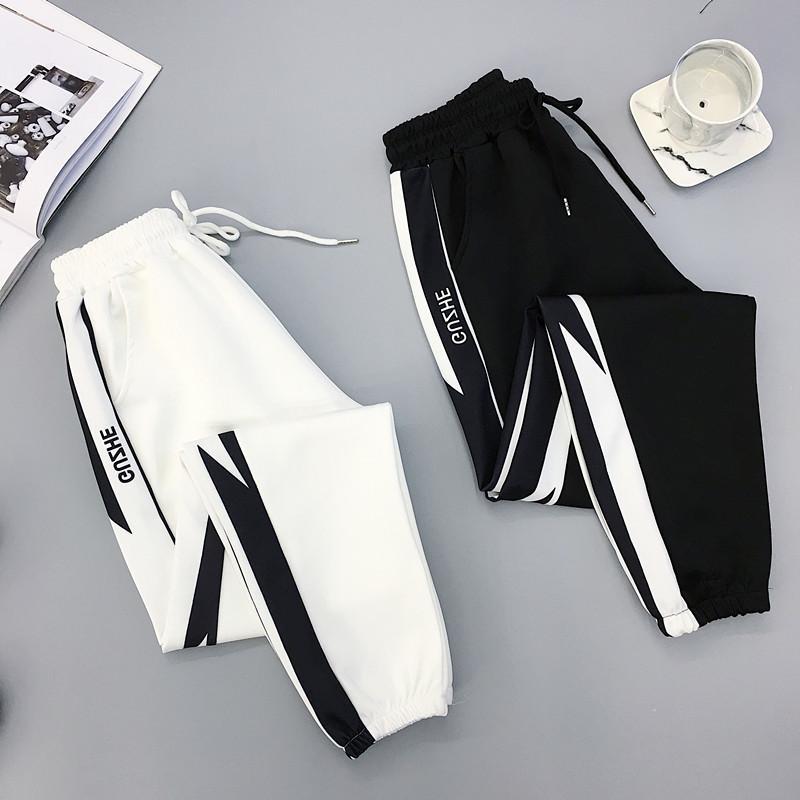 Automne HIP HOP Sports Femmes Pantalons Plus Taille 2XL Lâche Harajuku Cargo Pantalons Femmes Pantalon à taille haute Jogger Pantalon Baggy Q0112