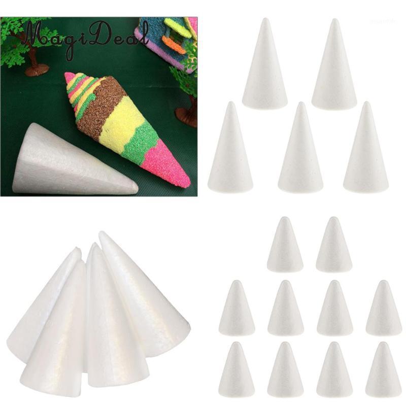 20x en blanco DIY Árbol de Navidad Cono Forma de cono de poliestireno Espuma de poliestireno Espuma para modelar Artesanía DIY Pintura Dibujo 70/100 / 150mm1