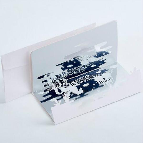 Zwei Schichten Papier Einladungskarten mit Umschlag aushöhlen Design Spiegel-Karte Innerhalb Hochzeit Einladung Umschläge 19101901