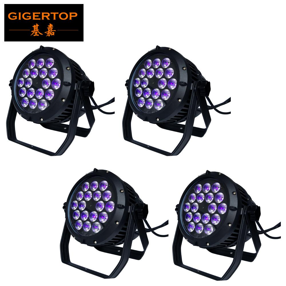 TIPTOP 18x18W RGBW Bernstein lila wasserdichte LED-Par-Light 6in1 DMX 6/10 Kanäle High Power Indoor / Outdoor Simal Training